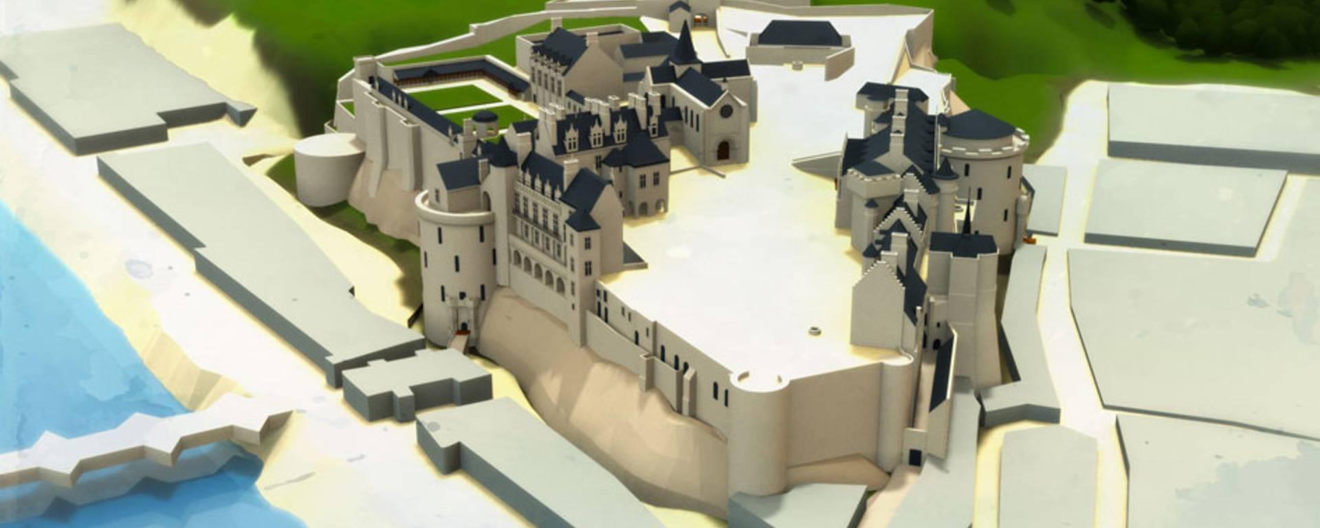 Il castello all'epoca di Luigi Filippo