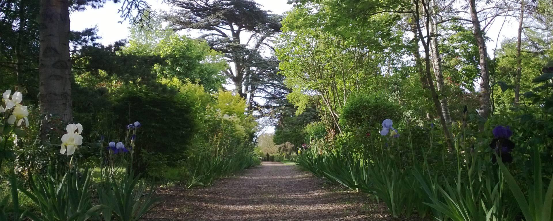 I giardini del priorato di Orchaise vicino a Blois