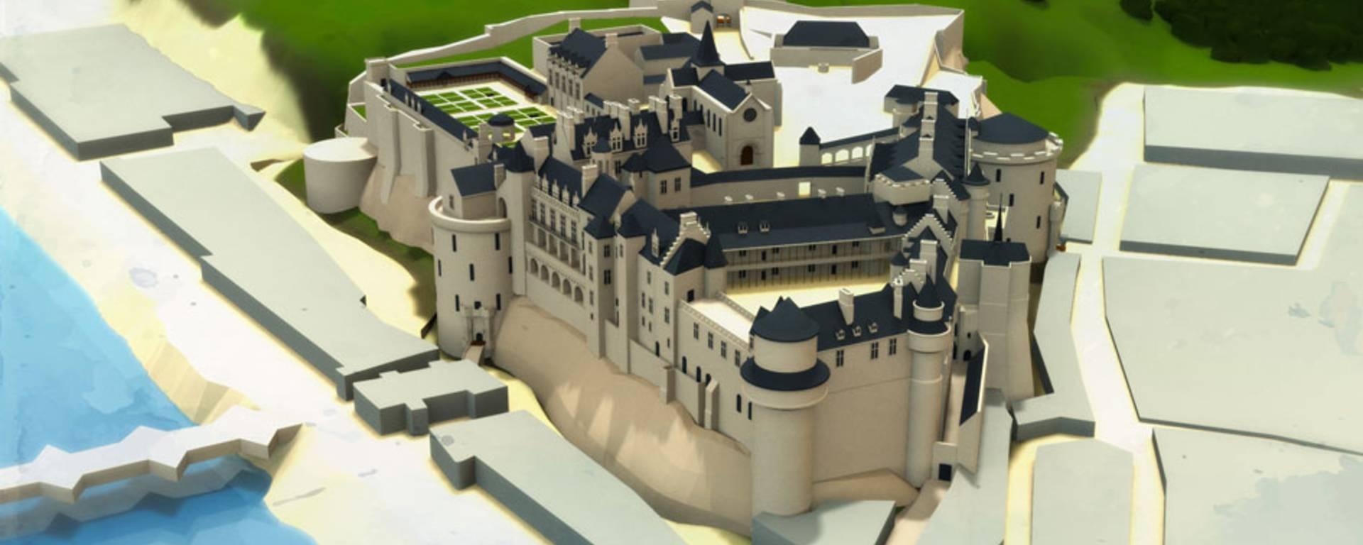 Il castello all'epoca di Caterina dei Medici