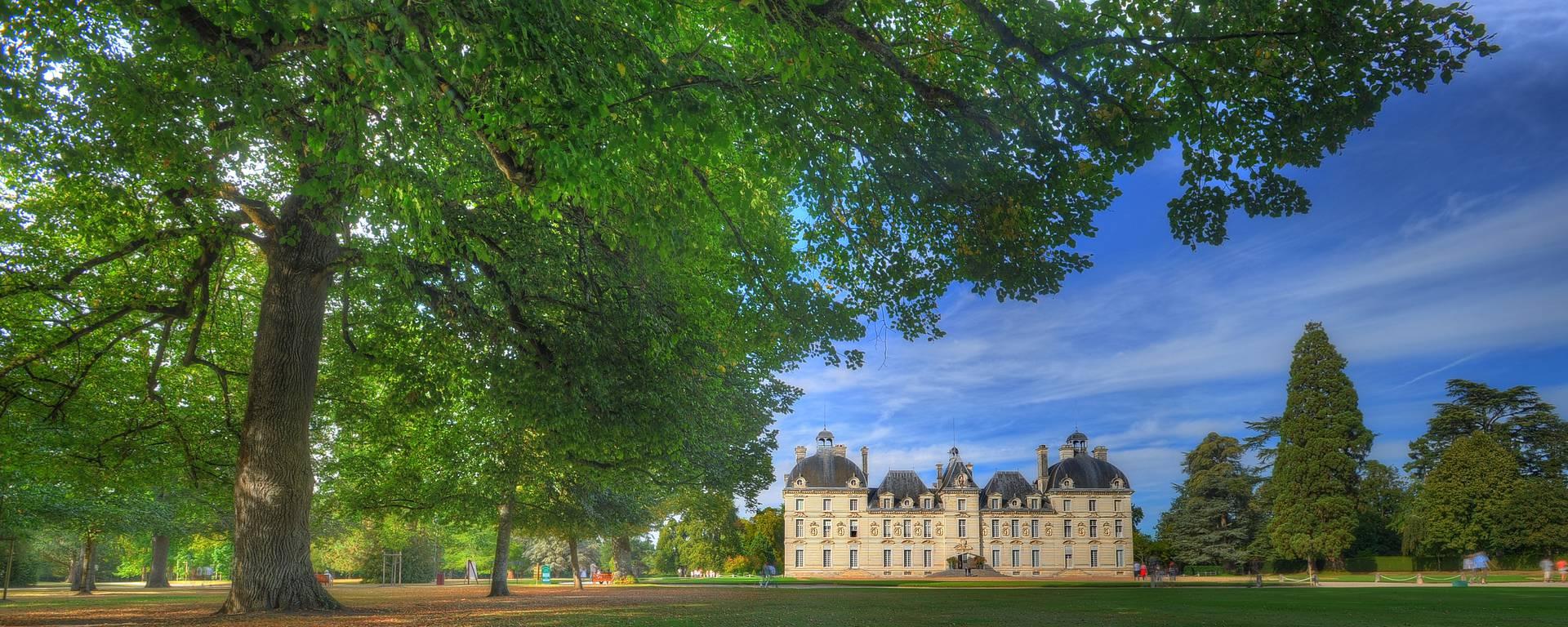 Il castello di Cheverny visto dal parco