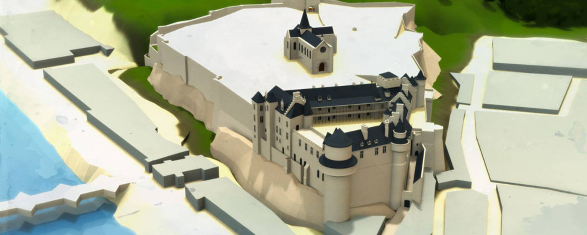 Il castello all'epoca di Luigi XI