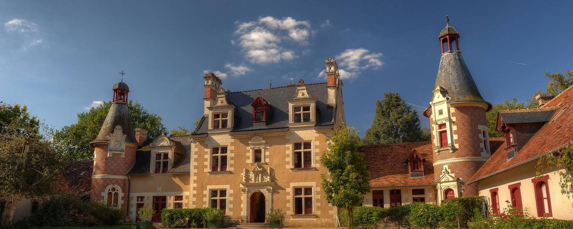 Il cortile del castello di Troussay