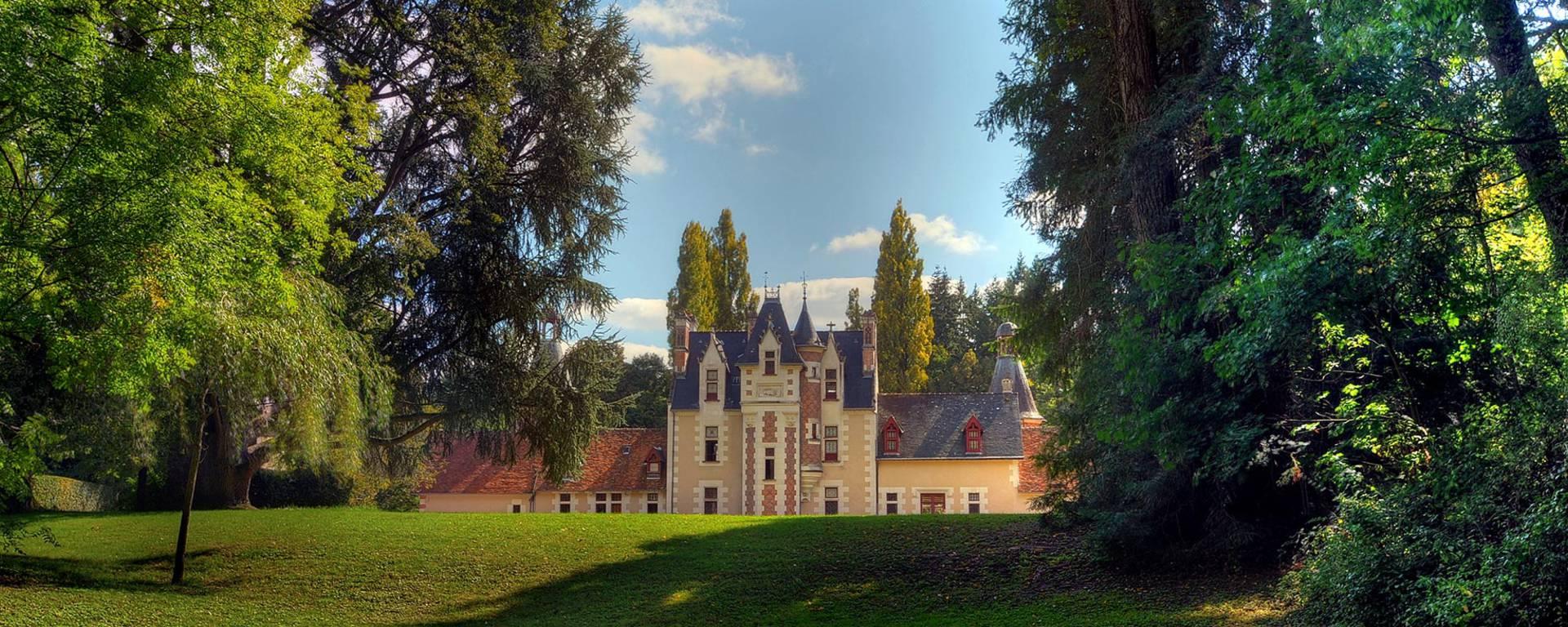 Il parco del castello di Troussay