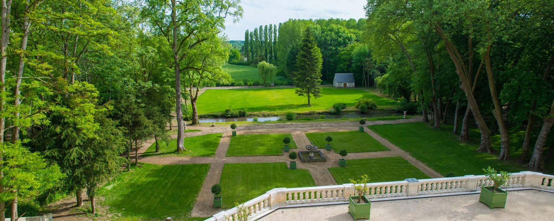 I giardini rinascimentali del castello Gaillard © OTBC