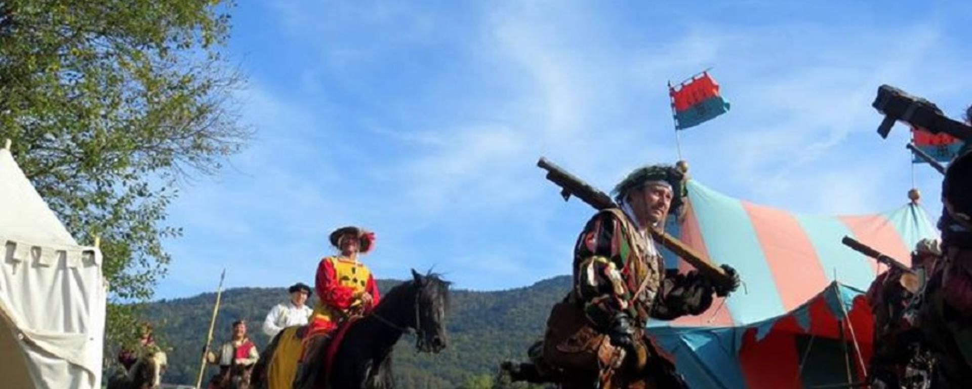 Ricostituzione della battaglia di Marignano al Clos Lucé. © DR
