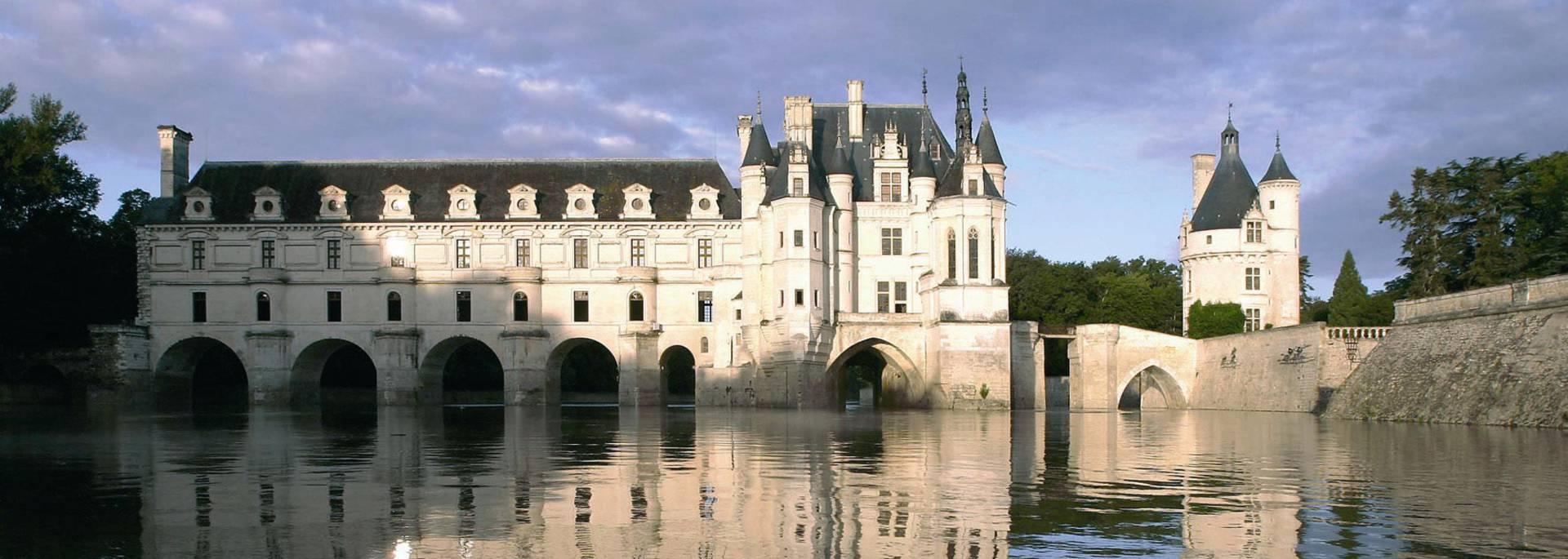 Il castello di Chenonceau sul fiume Cher