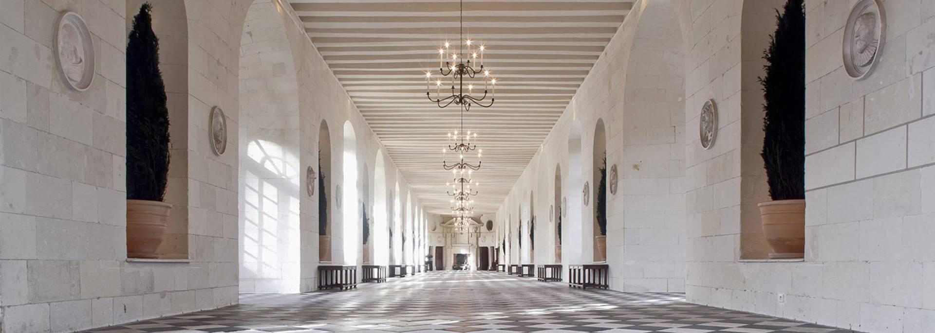 L'interno del castello di Chenonceau