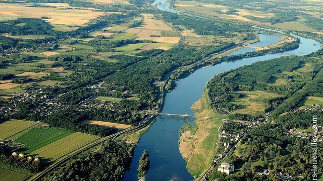 Vista del cielo da Chaumont-sur-Loire © Loisirs Loire Valley