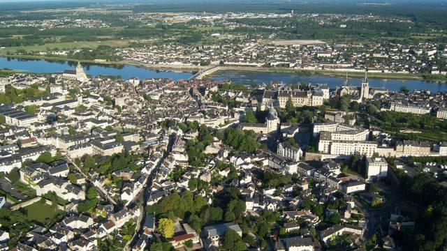 La città di Blois dal cielo © BloisChambord