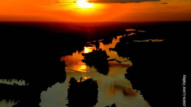 Sunset dal cielo © Loisirs Loire Valley