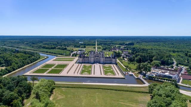 Il castello di Chambord © Drone-Contrast