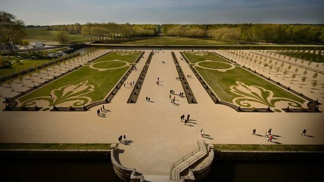I giardini alla francese di Chambord. © Leonard de Serres