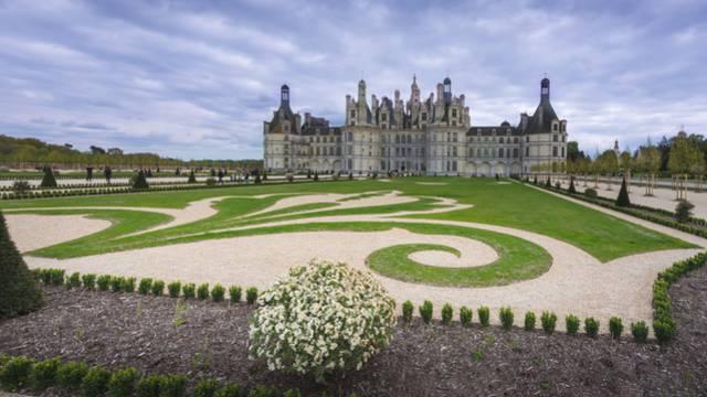 I giardini alla francese del castello di Chambord