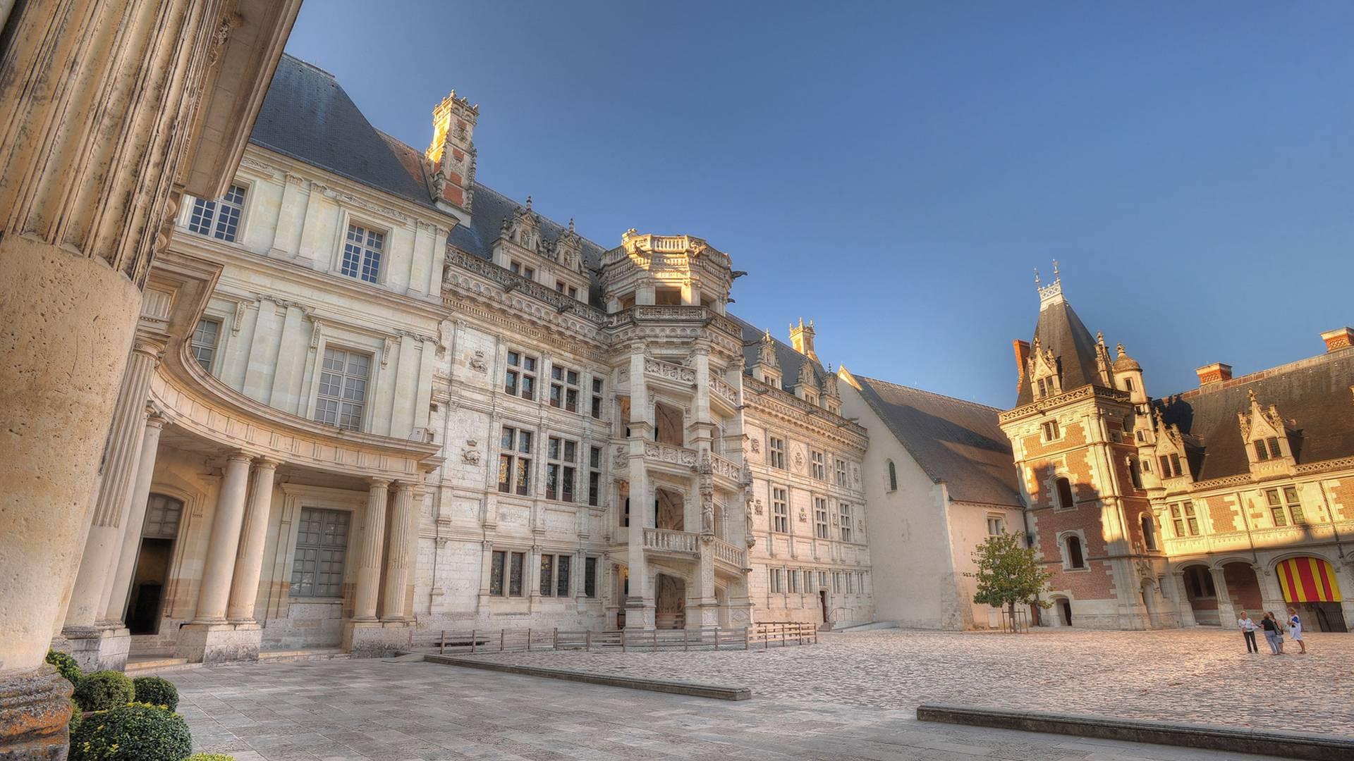 Castello di Blois, scalinata Francesco I