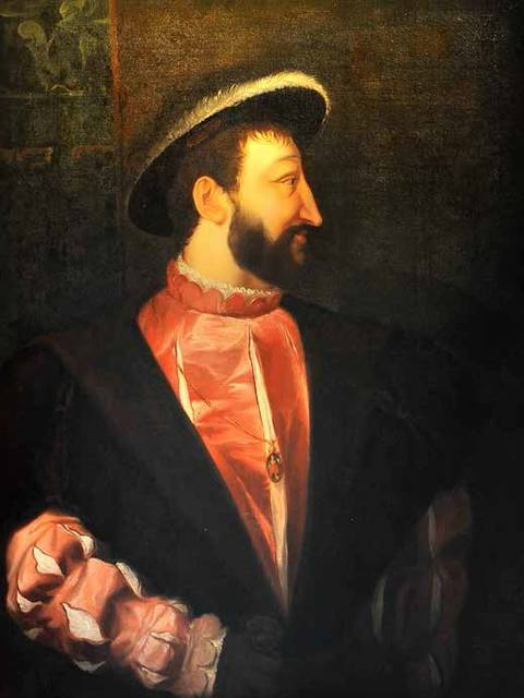 Ritratto di Francesco I realizzato da Pierre Dupuis.