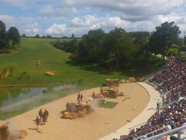 Lo spettacolo dei rapaci allo ZooParc di Beauval. © OTBC