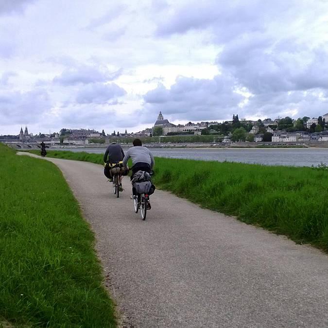 La Loira in bicicletta a Blois