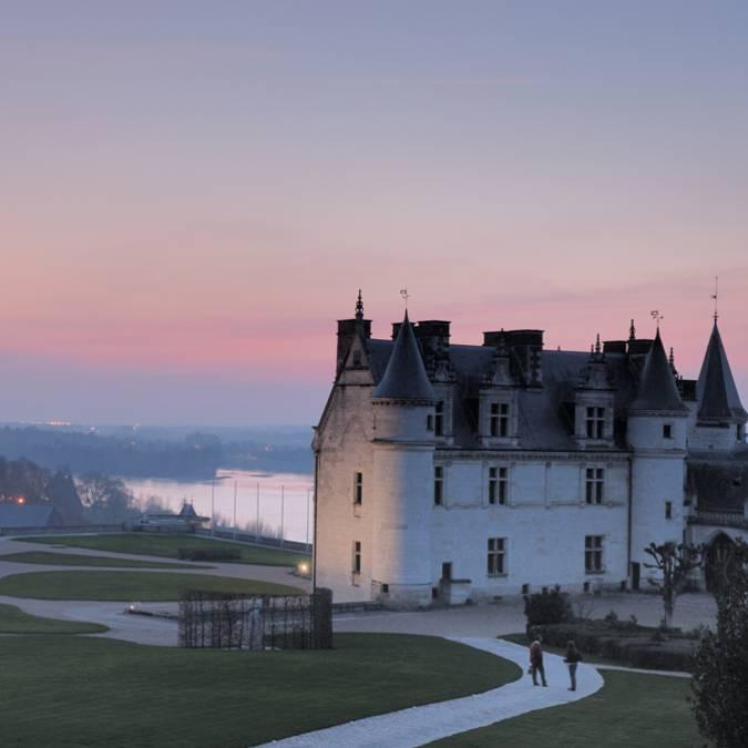Il castello di Amboise al tramonto
