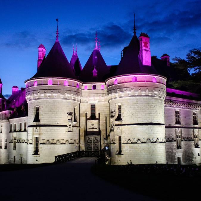 Il castello di Chaumont di notte
