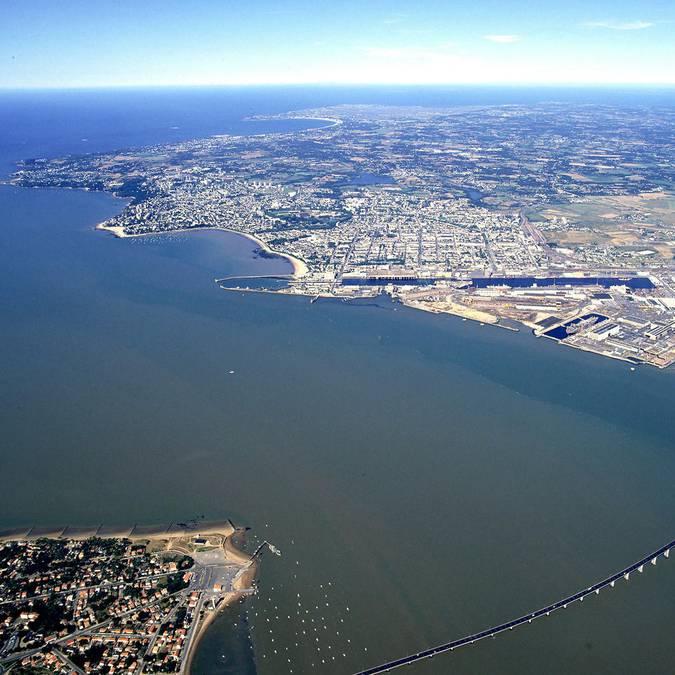 L'estuario della Loira a Saint-Nazaire