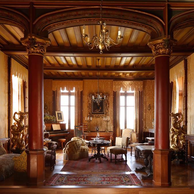 Il salone del castello di Chaumont-sur-Loire