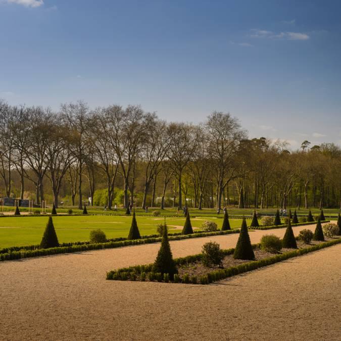 I giardini di Chambord visti dai sentieri
