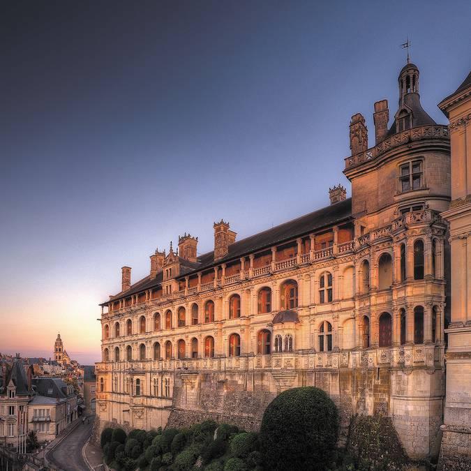 Facciata delle logge del castello reale di Blois