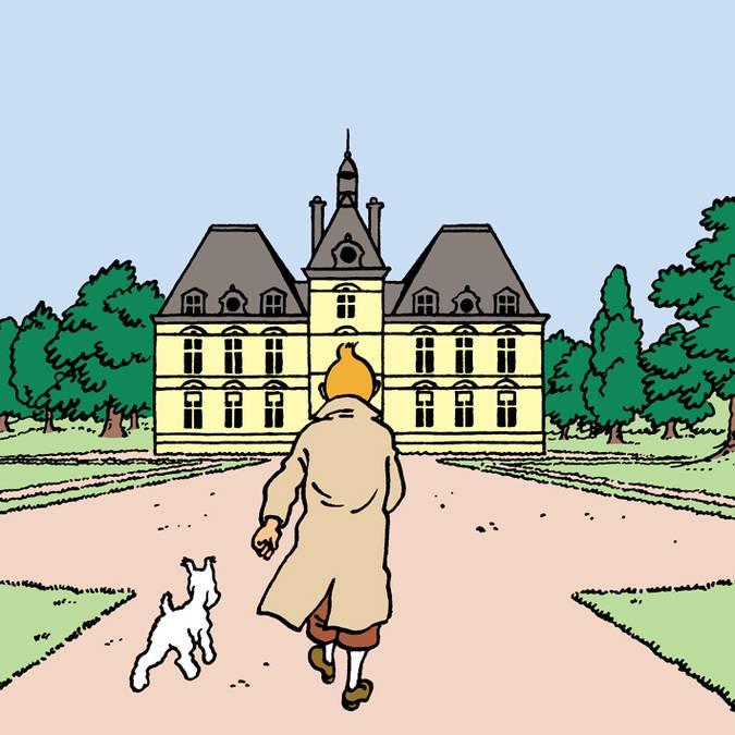 Hergé si è ispirato al castello di Cheverny per disegnare Moulinsart. © Hergé