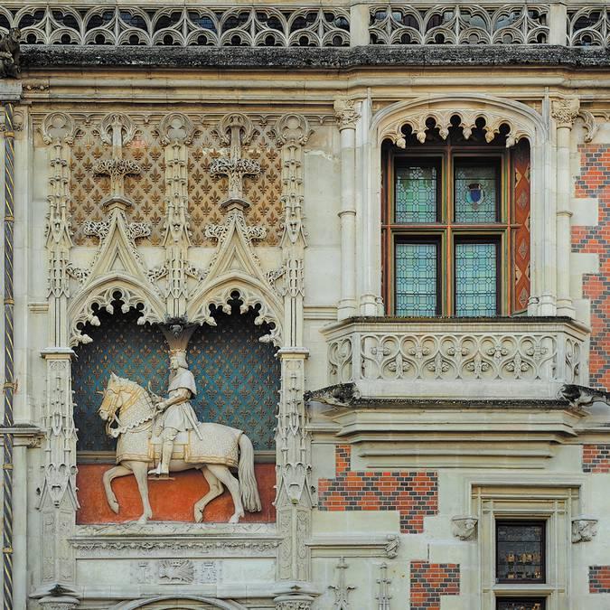 Statua equestre di Luigi XII al castello di Blois
