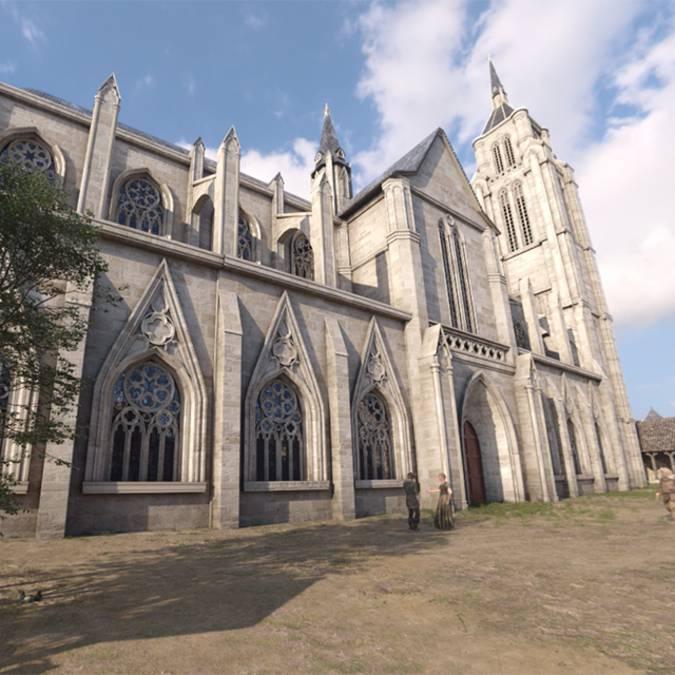 La chiesa Saint-Sauveur nel 1429