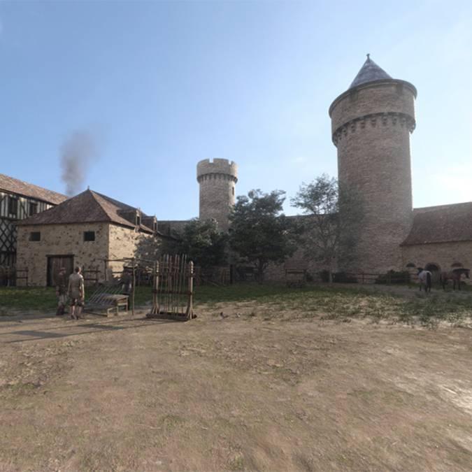La piazza del castello nel 1459