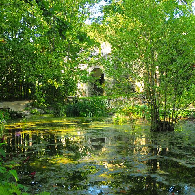 Il giardino di Leonardo al Clos Lucé di Amboise. © DR